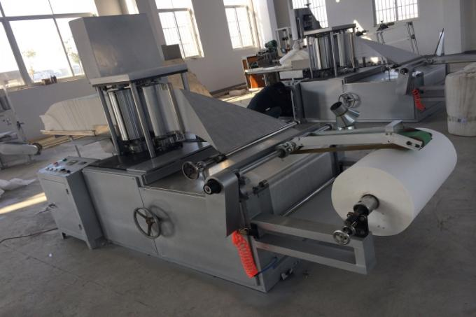 Cutting Non Woven Folding Machine 5kw Length 4.2m Clean Shoes Tables 1000kg
