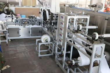China AC380V Disposable Mask Making Machine , 7KW Elastic Face Mask Making Machine supplier