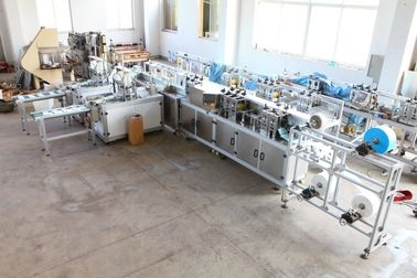 China Fully Automatic non woven  Face Mask Making Machine , Earloop Welding Medical Mask  Machine 11KW supplier