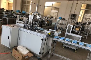 China Fully Automatic non woven  Face Mask Making Machine , Earloop Welding Medical Mask  Machine 8KW supplier