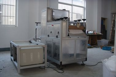 China Medical Sleeve Making Machine Nonwoven Disposable Cover With Elastic Material factory